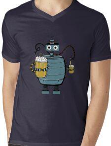 Beer Bot Mens V-Neck T-Shirt