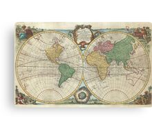 Vintage Map of The World (1744) Canvas Print
