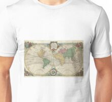 Vintage Map of The World (1744) Unisex T-Shirt