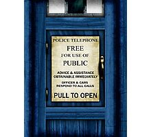 Free For Use Of Public - Tardis Door Sign - (please see description) Photographic Print