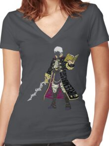 Robin Typography Women's Fitted V-Neck T-Shirt