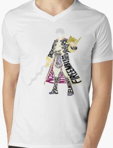 Robin Typography Mens V-Neck T-Shirt