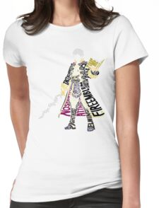 Robin Typography Womens Fitted T-Shirt