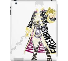 Robin Typography iPad Case/Skin