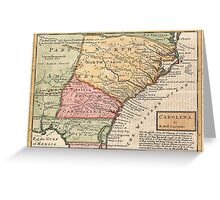 Vintage Map of The Carolinas (1746) Greeting Card