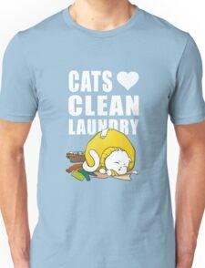 Cats love clean laundrey Unisex T-Shirt