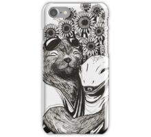 Space Lizard and Science Otter iPhone Case/Skin