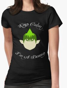 Keep Calm-Amaimon Womens Fitted T-Shirt