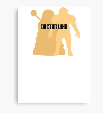 Doctor Who Villains Canvas Print