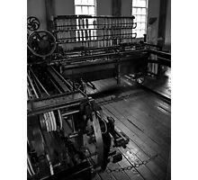 Inside Slater Mill Photographic Print