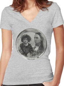 The Melvins Drumskin Women's Fitted V-Neck T-Shirt