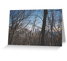 Montreal Through the Trees Greeting Card