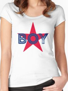 ★Star Boy Women's Fitted Scoop T-Shirt