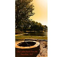 City Lake Park - Fire Pit - Peculiar, MO Photographic Print