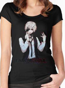 Ken Kaneki Tokyo Ghoul Women's Fitted Scoop T-Shirt