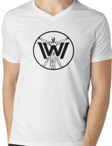 WESTWORLD/Vitruvian Man Mens V-Neck T-Shirt