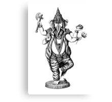 God Ganesha ink pen drawing Canvas Print