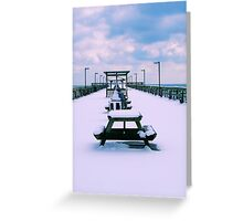 Snow Comes To The Beach Greeting Card