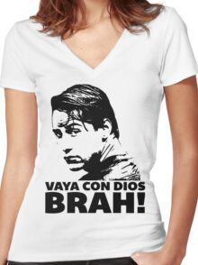 Vaya Con Dios Brah! Women's Fitted V-Neck T-Shirt