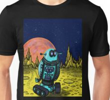 Lonely robot on remote planet darwing Unisex T-Shirt