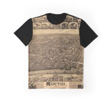 Map Of Moncton 1888 Graphic T-Shirt