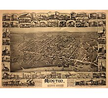Map Of Moncton 1888 Photographic Print