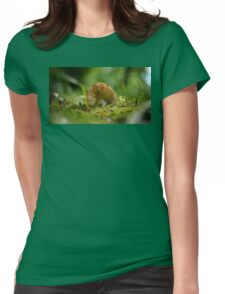 Mushroom Belly in the Green Moss Womens Fitted T-Shirt
