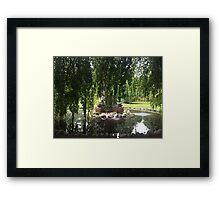Fountain in the Gardens Framed Print