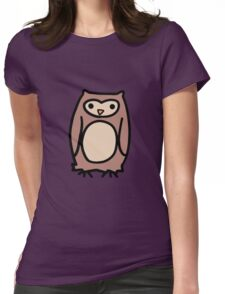 Brown Owl Womens Fitted T-Shirt