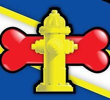 Yellow Hydrant by SkullBit