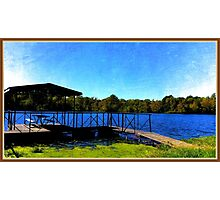 City Lake Park Dock Photographic Print