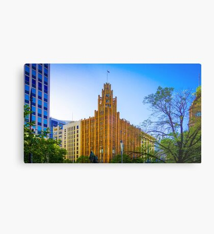 View to the Manchester Unity Building - Melbourne, Victoria Metal Print