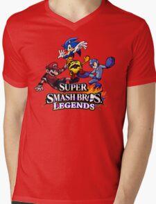 Super Smash Soccer Mens V-Neck T-Shirt
