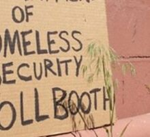 Department of Homeless Security Sticker