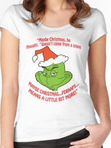 Grinch Funny Women's Fitted Scoop T-Shirt
