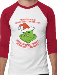 Grinch Funny Men's Baseball ¾ T-Shirt