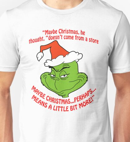 Grinch Funny Unisex T-Shirt