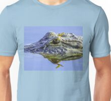 Dragonfly on the alligator eye Unisex T-Shirt