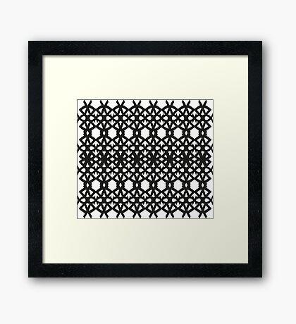 Spike Pattern Framed Print
