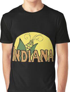Indiana Retro Logo Graphic T-Shirt