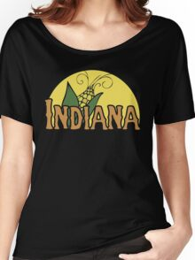 Indiana Retro Logo Women's Relaxed Fit T-Shirt