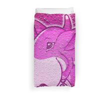 Let's Play English Bull Terrier Pink  Duvet Cover