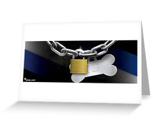 Collared Pup! (with CUSTOM name tag) Greeting Card