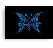 Blue Fantasy Butterfly Canvas Print