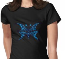 Blue Fantasy Butterfly Womens Fitted T-Shirt