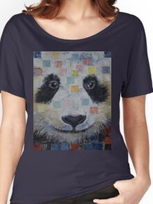 Panda Checkers Women's Relaxed Fit T-Shirt