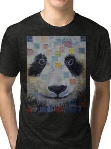 Panda Checkers Tri-blend T-Shirt