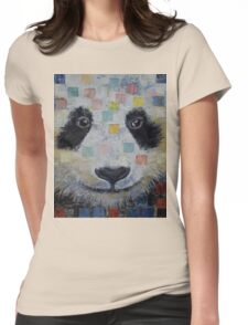 Panda Checkers Womens Fitted T-Shirt