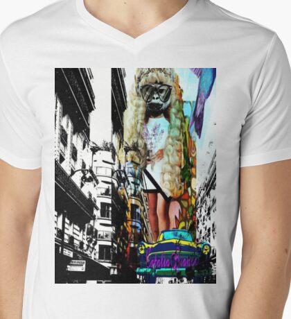 Whos That Girl Mens V-Neck T-Shirt