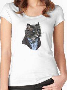 2nd Doctor Mew Women's Fitted Scoop T-Shirt